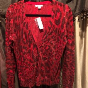 Paint the town red in this stunning cardigan!
